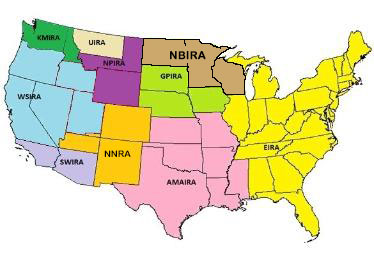 Indian National Finals Rodeo Region Map